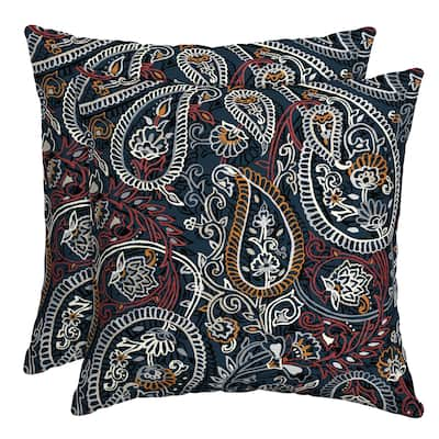 Arden Selections Palmira Paisley Outdoor Throw Pillow, 2 pack - 16 in L x 16 in W x 5 in H