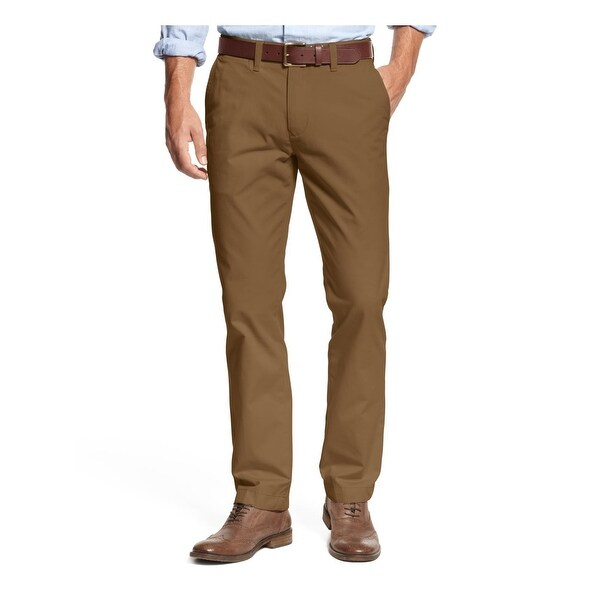 cb68b489 Shop Tommy Hilfiger Mens Chino Pants Twill Custom Fit - On Sale ...