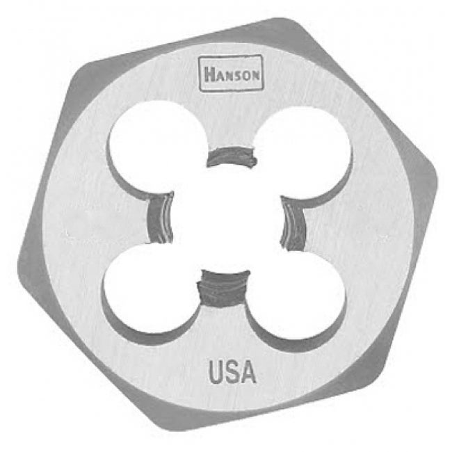 Irwin Tools 9734 Hanson High Carbon Steel Hexagon Metric Die, 8 mm - 1.25