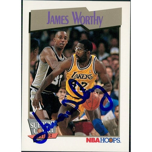 eec2eed7932 Shop Signed Worthy James Los Angeles Lakers 1991 NBA Hoops Basketball Card  autographed - Free Shipping On Orders Over $45 - Overstock - 17690287