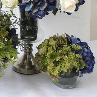 G Home Collection Luxury Blue Green Hydrangea Flower Arrangement