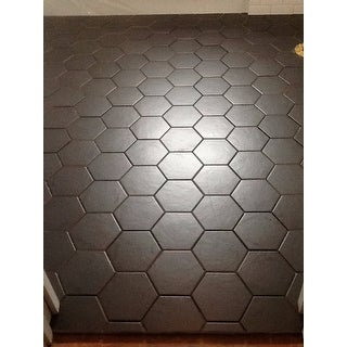 Read More. SomerTile 7x8 inch Hextile Matte Black Porcelain Floor and Wall