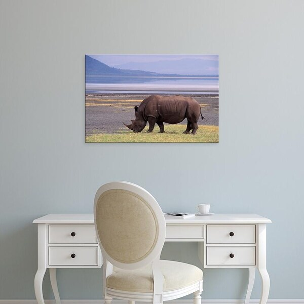 Easy Art Prints Gavriel Jecan's 'White Rhinoceros' Premium Canvas Art