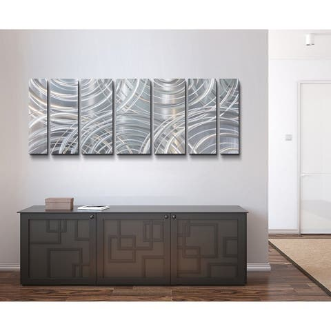 Statements2000 Large Metal Wall Art Modern Abstract Silver Decor by Jon Allen - Moving Forward