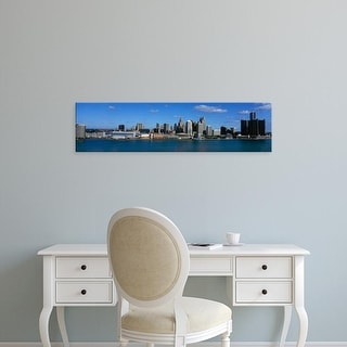 Easy Art Prints Panoramic Images's 'USA, Michigan, Detroit' Premium Canvas Art