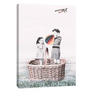 """PTM Images 9-105832  PTM Canvas Collection 10"""" x 8"""" - """"Going Up"""" Giclee Children Art Print on Canvas"""