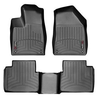 WeatherTech Chrysler 200 2015+ Sedan Black Front & Rear Floor Mats FloorLiner 44689-1-2