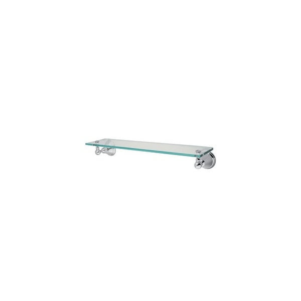 Elements Of Design EBA2979C Wall Mounted Glass Shelf from the Classique Collection - Chrome