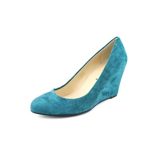 Via Spiga Farley Open Toe Suede Wedge Heel