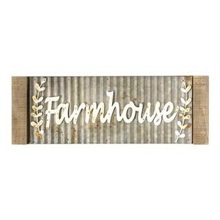Framed Galvanized Metal Farmhouse Wall Sign
