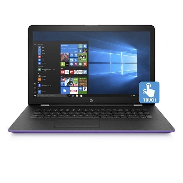 "Refurbished - HP 17-BS015DS 17.3"" Touch Laptop Intel Core i3-7100U 2.4GHz 4GB 2TB Windows 10"