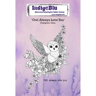 "Indigoblu Cling Mounted Stamp 5""X4""-Owl Always Love You"