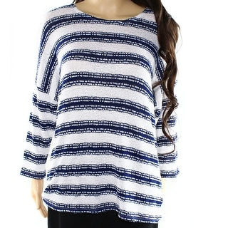 Two by Vince Camuto NEW Blue Women's Small S Striped Crewneck Sweater
