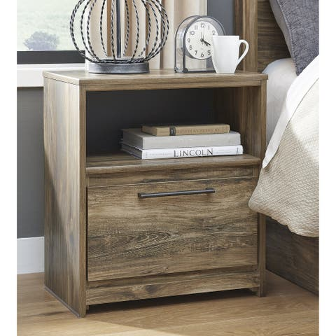 Rusthaven Rustic Brown One Drawer Nightstand