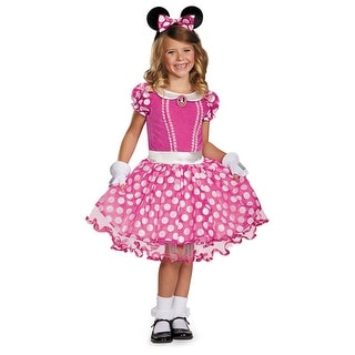 Girls Pink Minnie Tutu Prestige Halloween Costume
