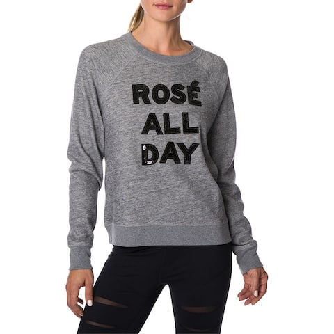 Betsey Johnson Long Sleeve Crew Neck Pullover - CGE