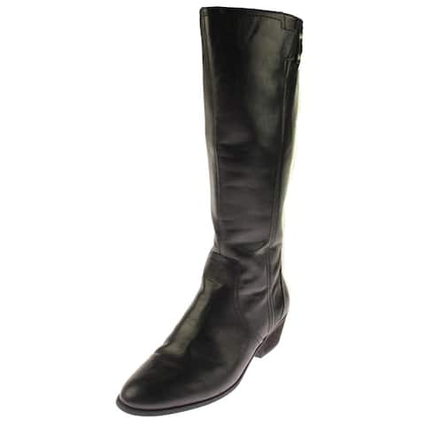 a4acdd10c609 Dr. Scholl s Womens BrillianceWC Riding Boots Wide Calf Faux Leather