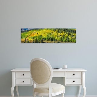 Easy Art Prints Panoramic Image 'Mount Sneffels, Wolcott Mountain, Uncompahgre National Forest, Colorado' Canvas Art