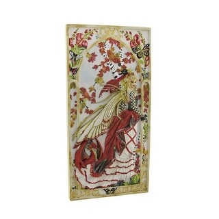 Nene Thomas `Snapdragon` Fairy and Dragon Wall Plaque - Red