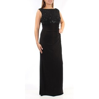 JESSICA HOWARD $149 Womens New 1438 Black Sequined Empire Waist Dress 12 B+B