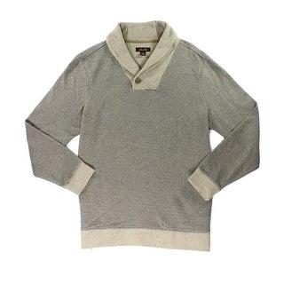 Tasso Elba NEW Brown Mens Size 2XL Shawl Collar Diamond Pattern Sweater