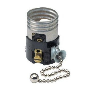 Leviton C21-19980-00M Pull Chain Socket Interior, Single circuit