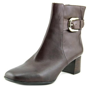 Nine West Poppyo Square Toe Leather Ankle Boot