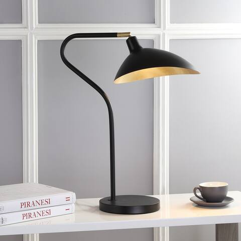 "Safavieh Lighting 30-inch Giselle Adjustable Black/ Gold Task Table Lamp - 20""x10.16""x23-30"""