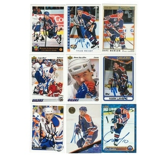 Edmonton Oilers Lot of 9 Autographed Cards You will receive all cards in the picture This Lot includes: Brian Glynn,