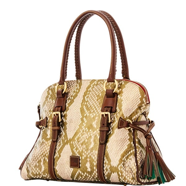 Dooney & Bourke City Python Domed Buckle Satchel (Introduced by Dooney & Bourke at $468 in Sep 2016) - Gold