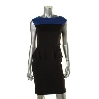 American Living Womens Stretch Peplum Wear to Work Dress