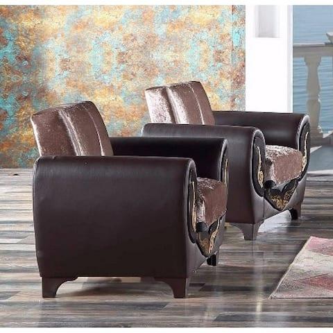 SavaHome Legolas Living Room Chair Brown