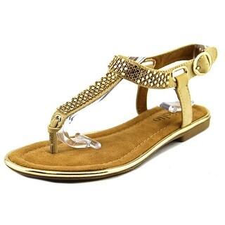 Rialto Zora Open Toe Suede Thong Sandal