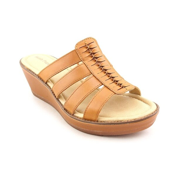 Hush Puppies Roux Slide   Open Toe Leather  Wedge Sandal