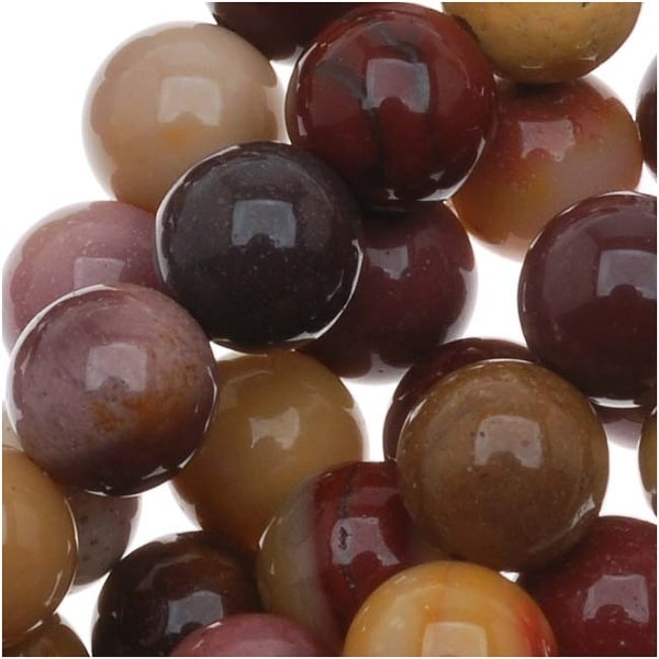 Mookaite Gem Multi-Color Beads 6mm Round 15.5 Inch Strand