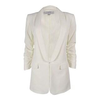 Tahari ASL Women's Plus Size Ruched-Sleeve Blazer - Ivory