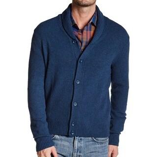Penguin NEW Blue Mens Size Medium M Shawl Collar Cardigan Wool Sweater