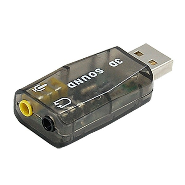 Unique Bargains Audio Sound Card Microphone Adapter for PC Computer
