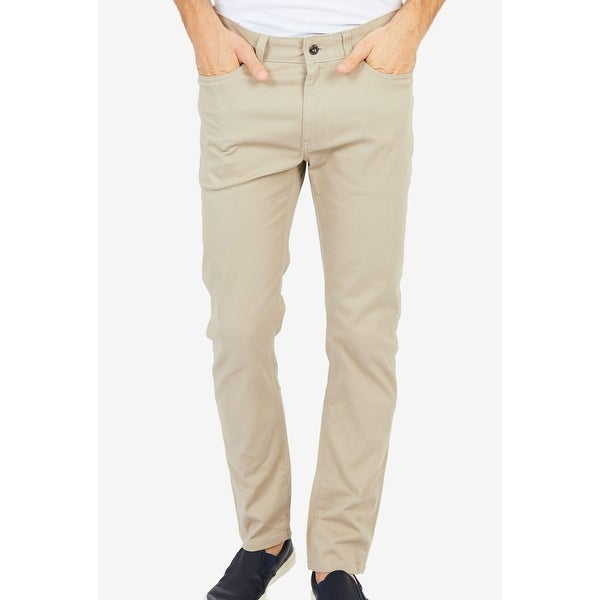 Nautica Beige Mens Size 42x30 Classic Straight Leg Stretch Jeans