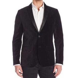 Kenneth Cole Reaction NEW Men's Black Size 44 Two Button Velvet Blazer