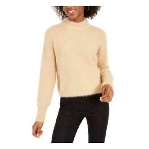 SUN+ MOON Womens Beige Long Sleeve Crew Neck Sweater Size XL