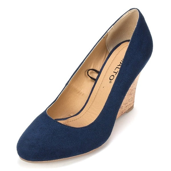 Rialto Womens Celina Fabric Closed Toe Wedge Pumps