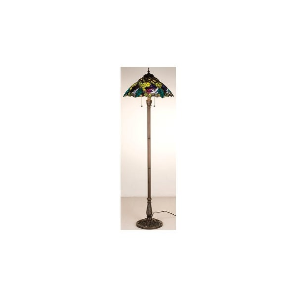 Shop Meyda Tiffany 99339 Stained Glass Tiffany Floor Lamp From The