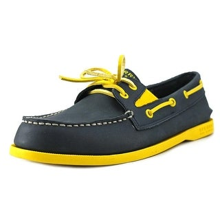 Sperry Top Sider A/O Gore Youth Moc Toe Leather Blue Boat Shoe