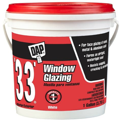 Dap 12019 Glazing Compound, 1 Gallon, White, 33