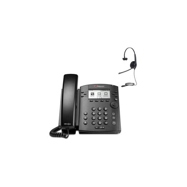 Polycom 2200-46135-025 w/ Headset Option 6-line Entry-Level Business Media Phone