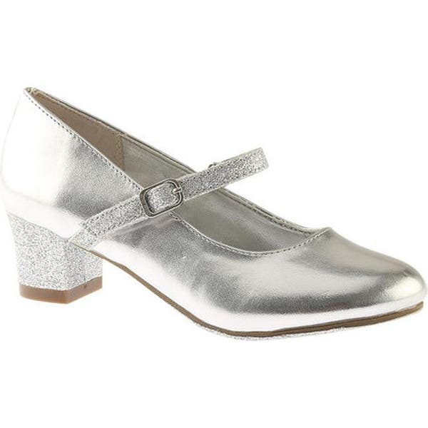 2a35c6435f Shop Nine West Kids Girls' Patrece Mary Jane Pump Silver Metallic ...