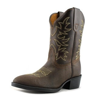 Dan Post CHI 8 DK BROWN C Round Toe Leather Western Boot