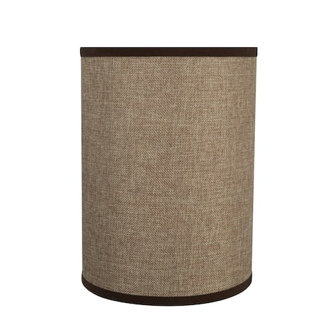 "Aspen Creative Drum (Cylinder) Shaped Spider Construction Lamp Shade in Straw Yellow (8"" x 8"" x 11"")"