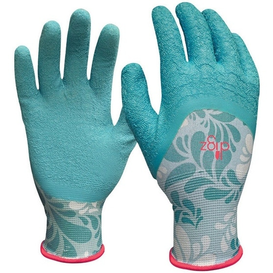 Digz 77383-26 Latex Gardening Gloves, Medium, Blue
